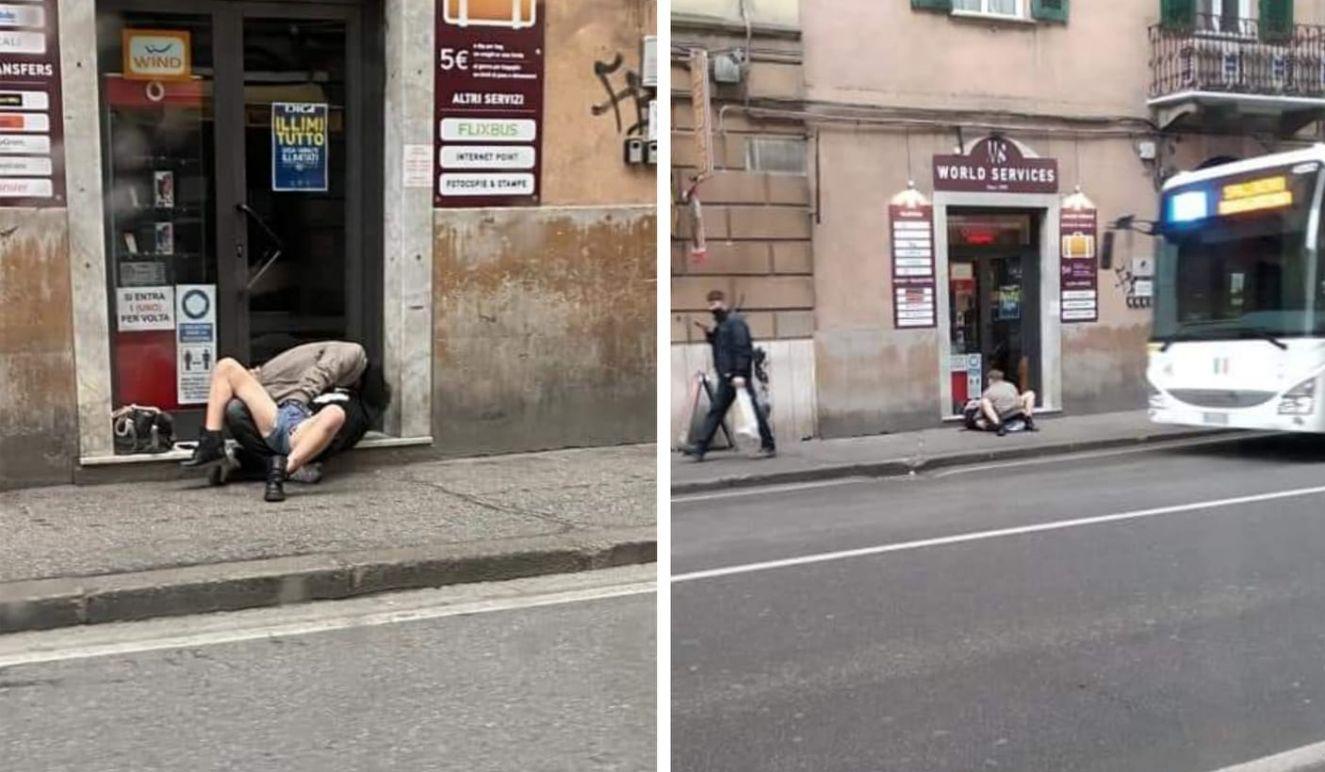 La Spezia, sesso sul marciapiede in pieno giorno: interrotti dalla polizia